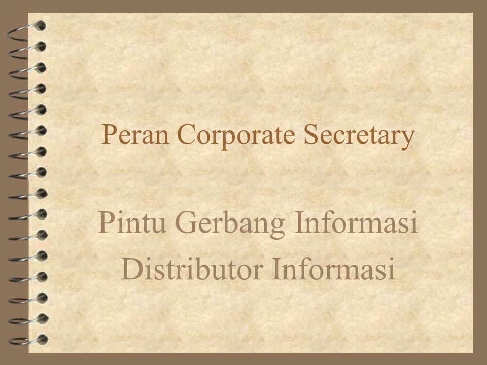 Peran Corporate Secretary