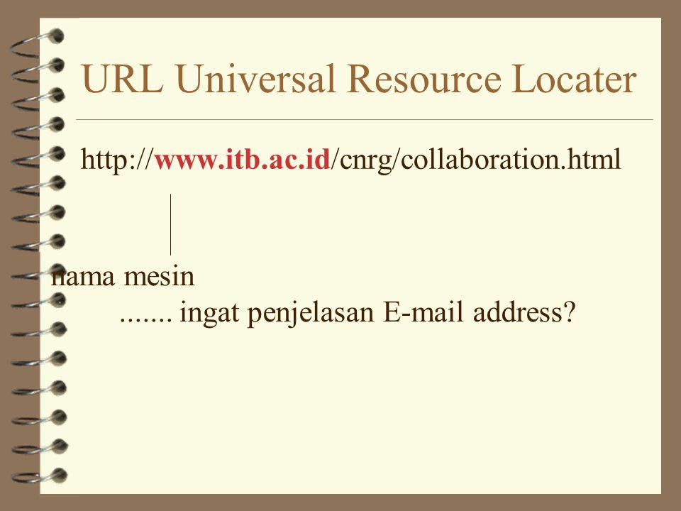 URL Universal Resource Locater
