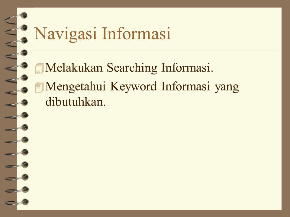 Navigasi Informasi Melakukan Searching Informasi.