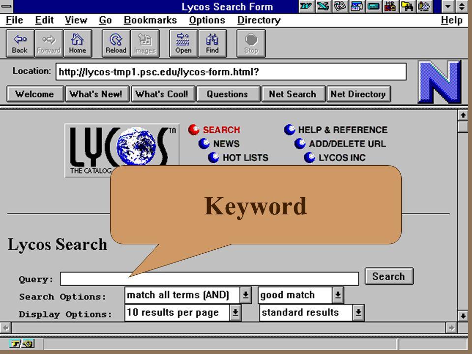 Contoh Search Lycos Keyword