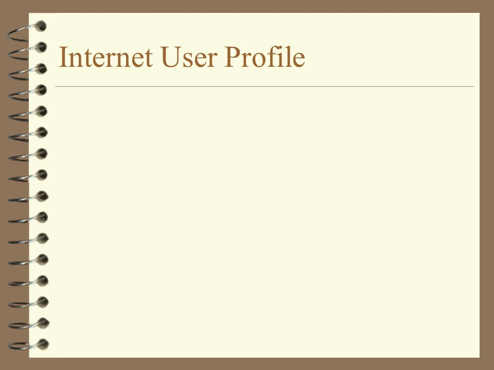 Internet User Profile