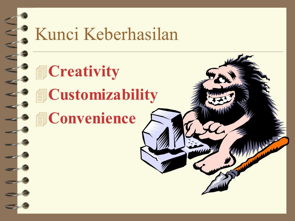 Kunci Keberhasilan Creativity Customizability Convenience