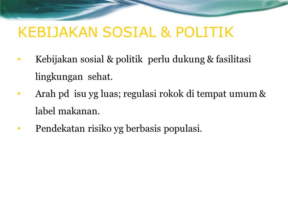 KEBIJAKAN SOSIAL & POLITIK