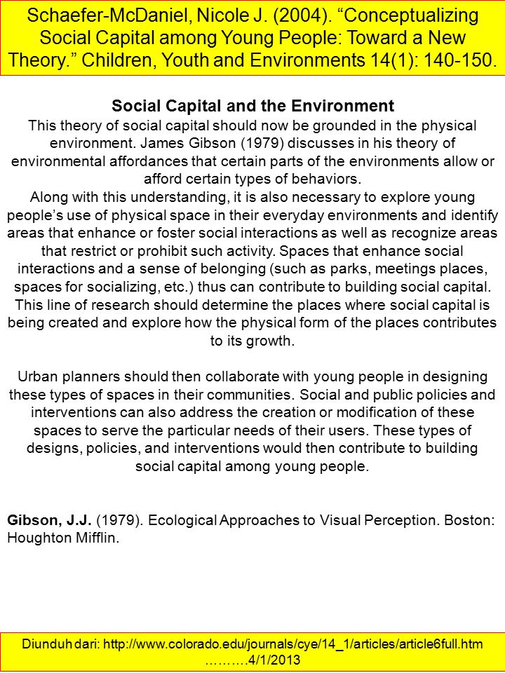 Social Capital and the Environment