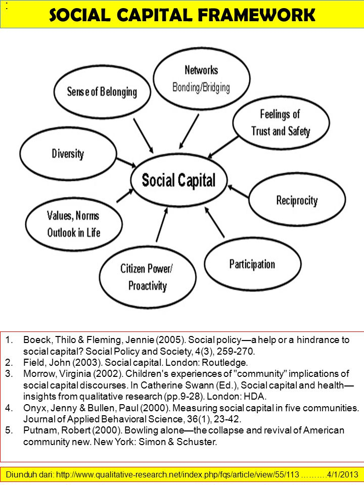 SOCIAL CAPITAL FRAMEWORK