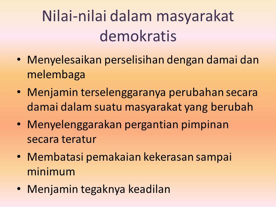 Nilai-nilai dalam masyarakat demokratis
