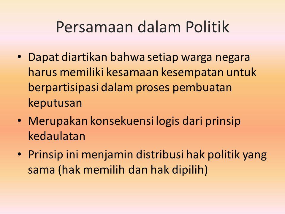 Persamaan dalam Politik