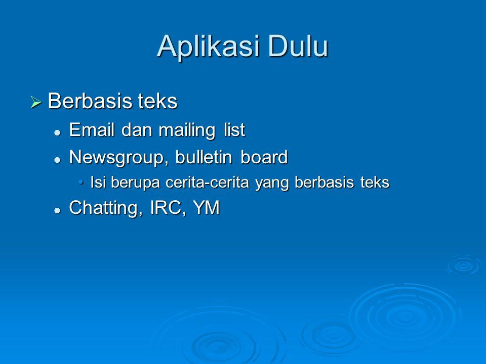 Aplikasi Dulu Berbasis teks Email dan mailing list