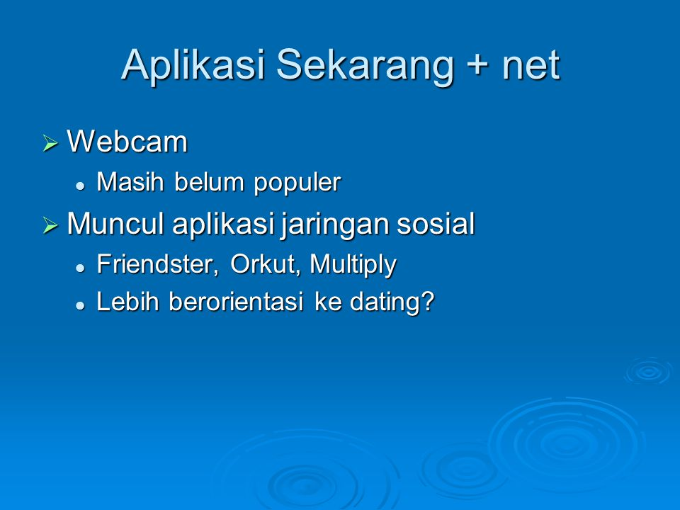 Aplikasi Sekarang + net