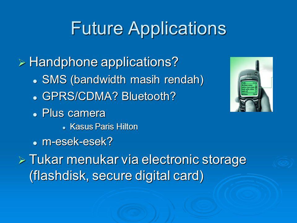 Future Applications Handphone applications