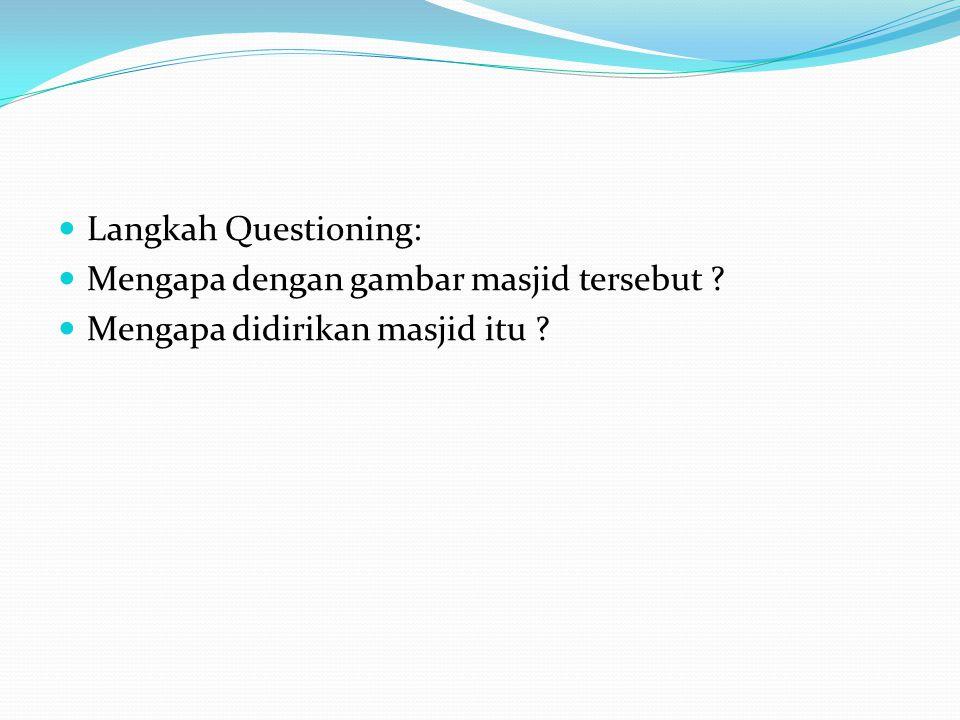 Langkah Questioning: Mengapa dengan gambar masjid tersebut Mengapa didirikan masjid itu
