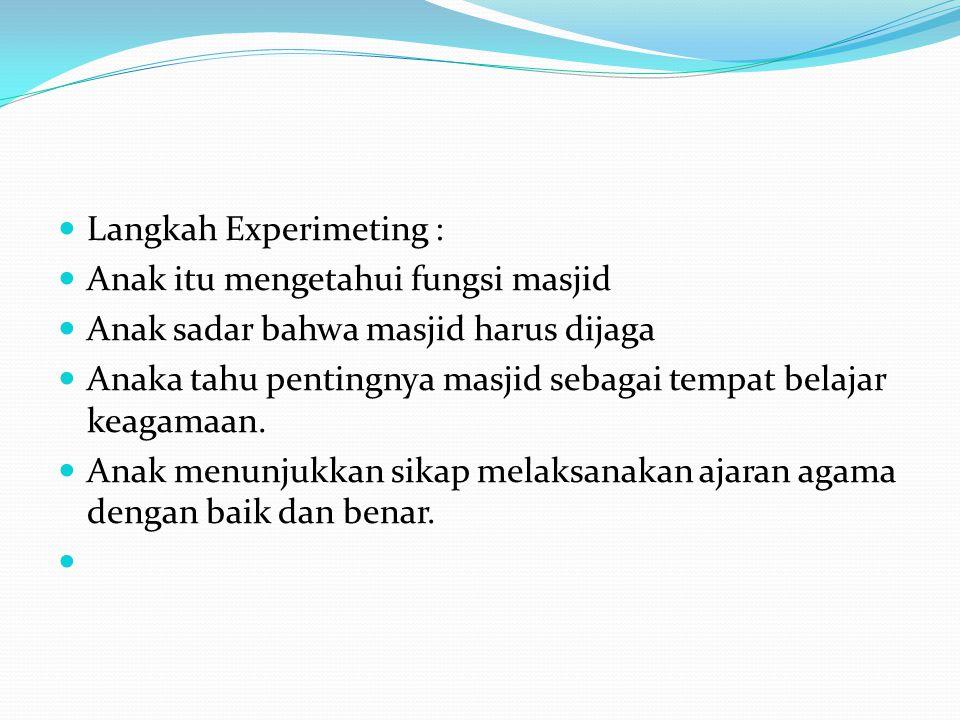 Langkah Experimeting :