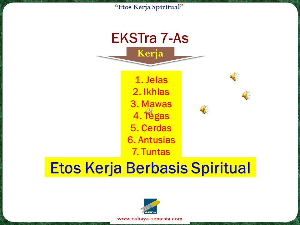 Etos Kerja Berbasis Spiritual
