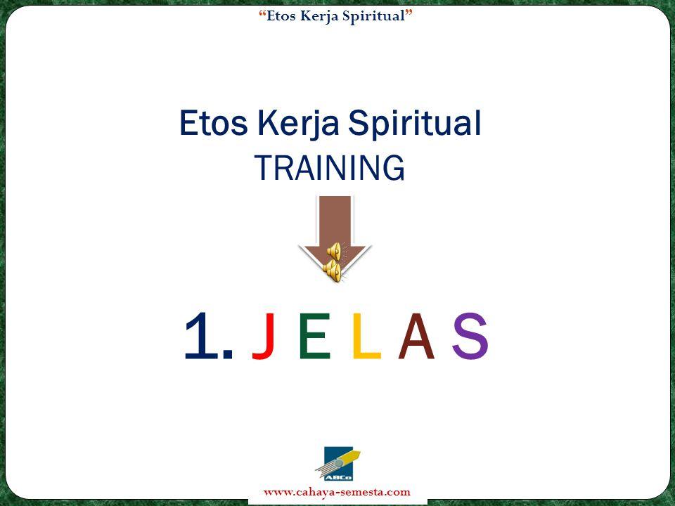 Etos Kerja Spiritual TRAINING