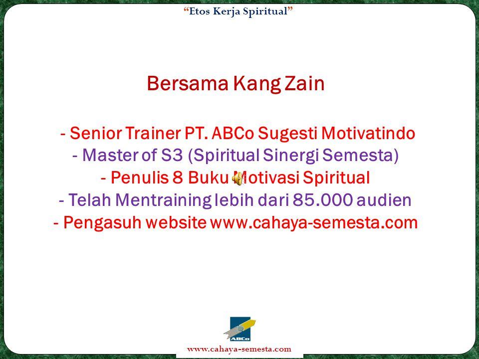 Bersama Kang Zain - Senior Trainer PT