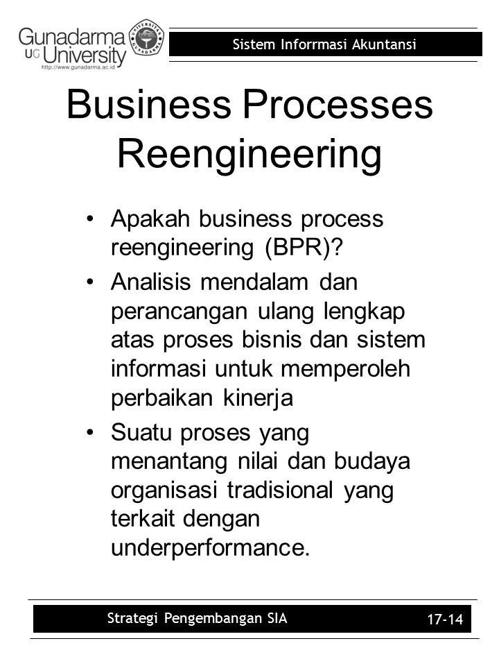 Business Processes Reengineering
