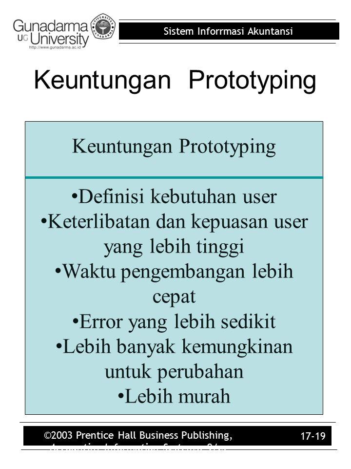 Keuntungan Prototyping
