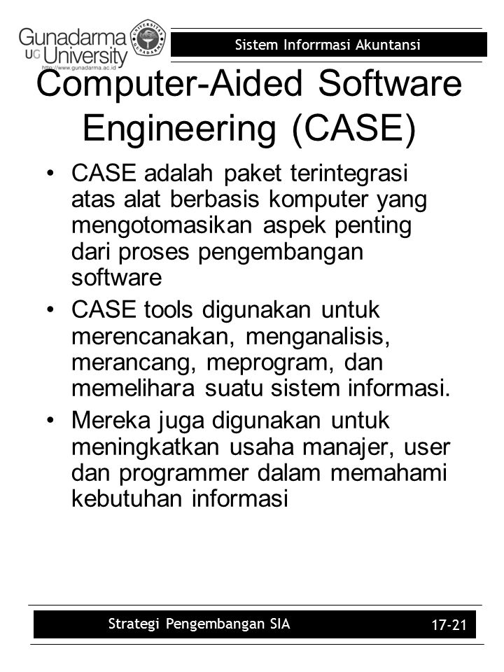 a study on computer aided software engineering tools Computer-aided software engineering (case) tools are a relatively new technology that promises to have a significant impact on the way systems professionals develop and maintain information systems this article reports on a study of the experience and expectations of current and prospective users of case tools.