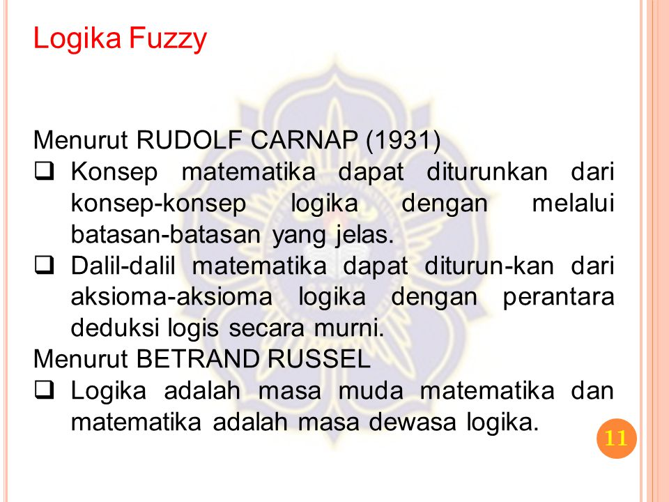 Logika Fuzzy Menurut RUDOLF CARNAP (1931)