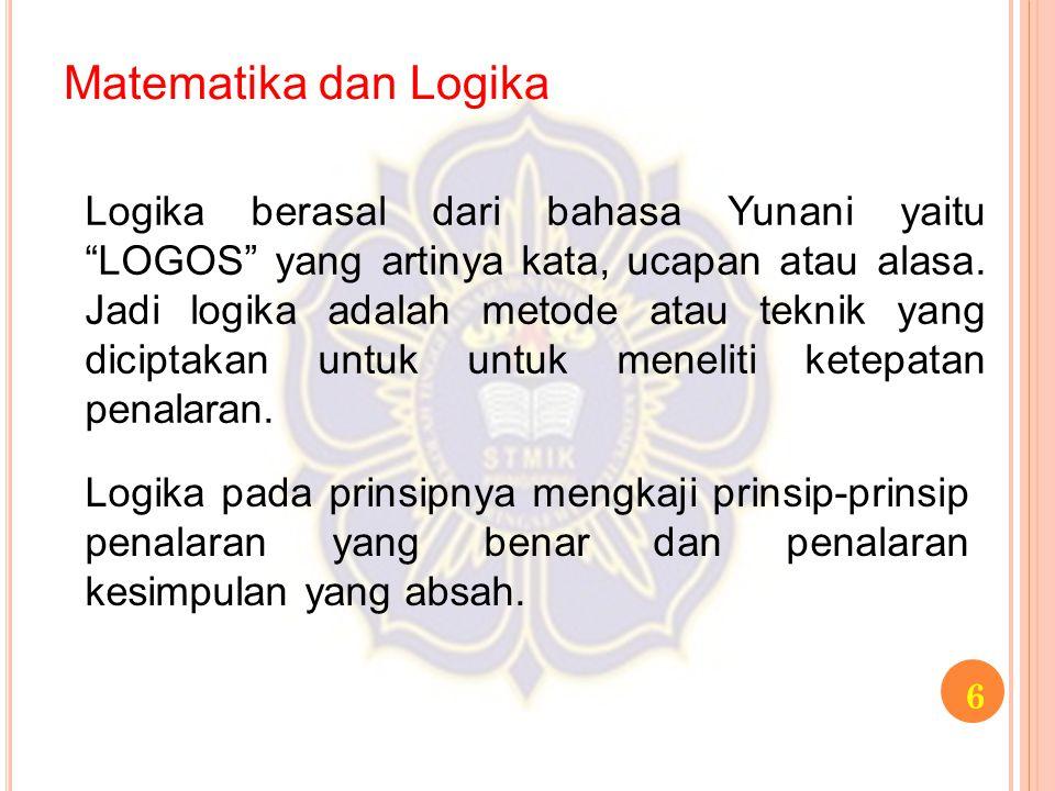 Matematika dan Logika