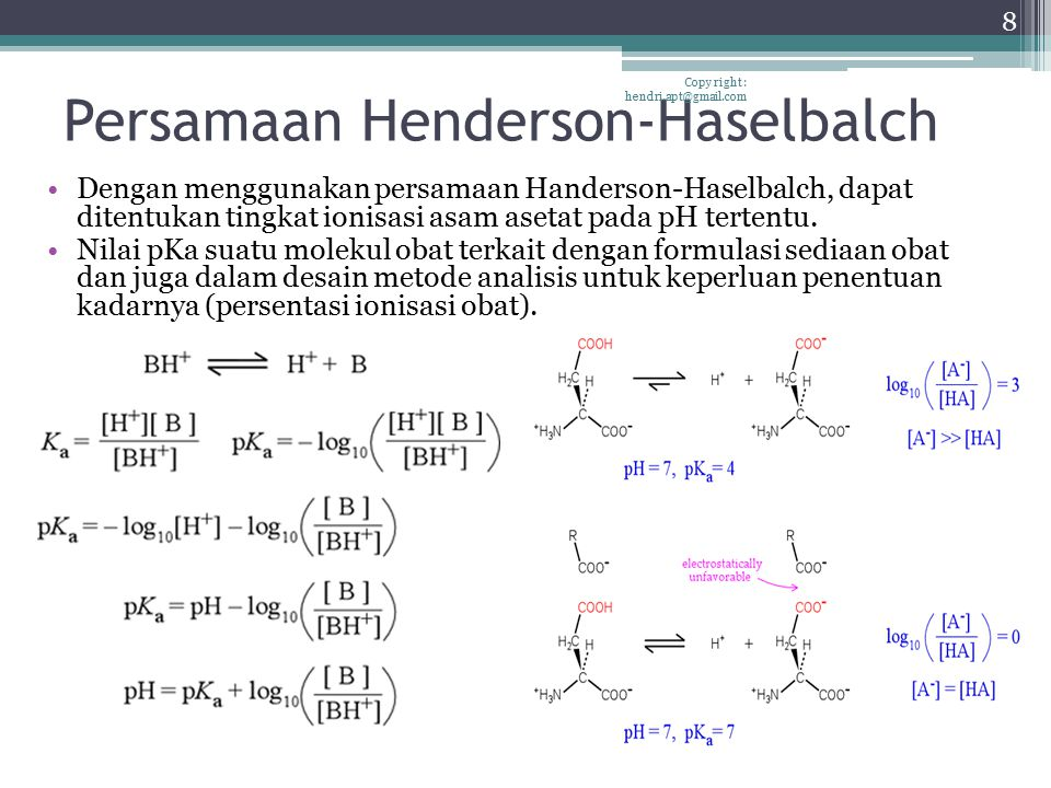 Persamaan Henderson-Haselbalch