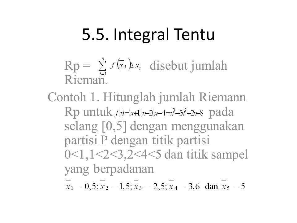 5.5. Integral Tentu Rp = disebut jumlah Rieman.
