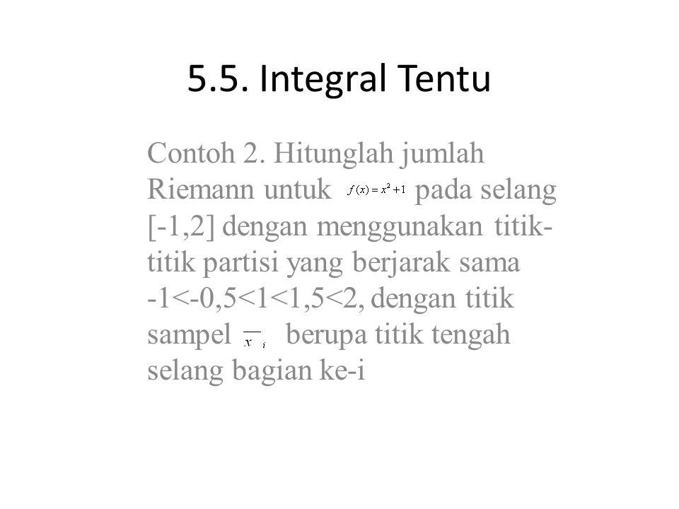 5.5. Integral Tentu