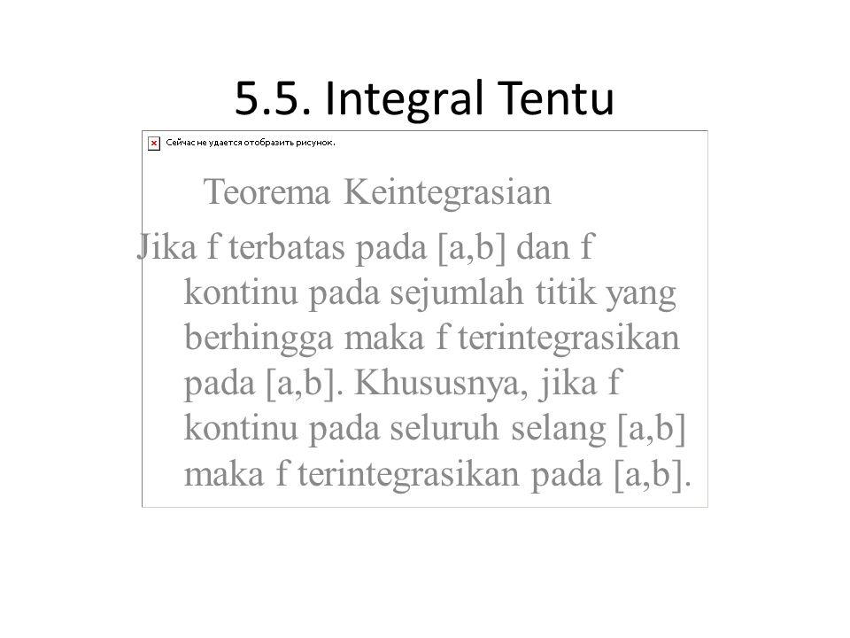 5.5. Integral Tentu Teorema Keintegrasian