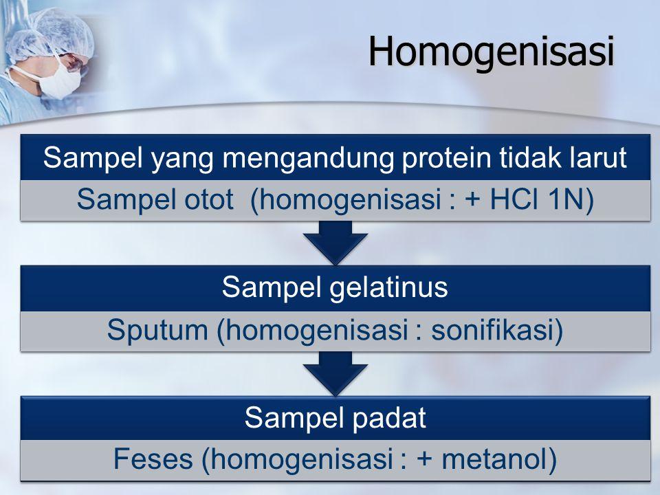 Homogenisasi Sampel yang mengandung protein tidak larut