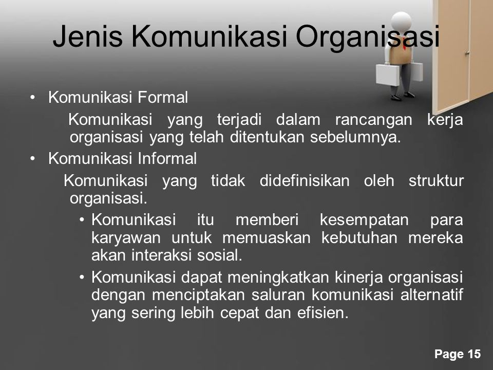 Jenis Komunikasi Organisasi
