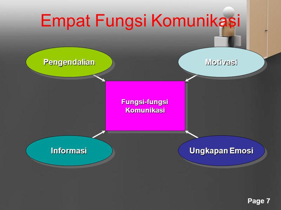 Empat Fungsi Komunikasi