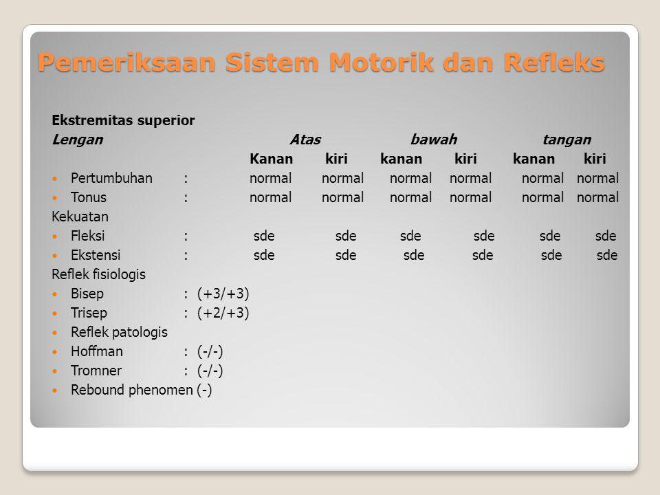 Pemeriksaan Sistem Motorik dan Refleks