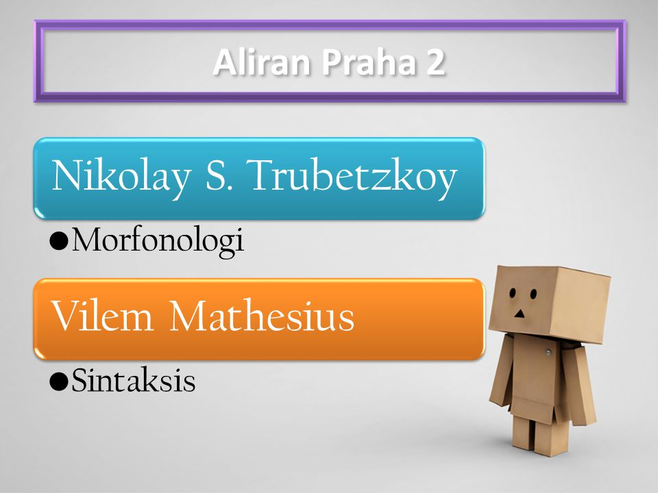 Nikolay S. Trubetzkoy Vilem Mathesius Aliran Praha 2 Morfonologi