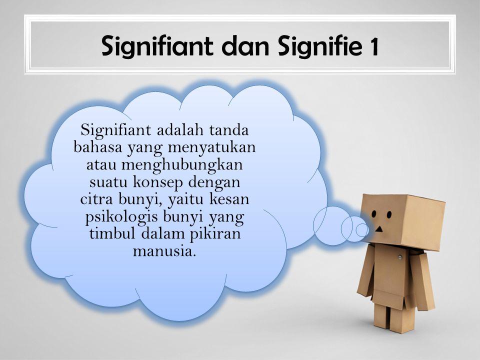Signifiant dan Signifie 1