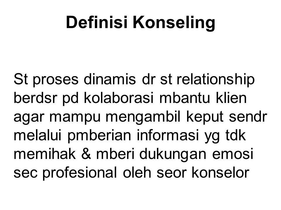 Definisi Konseling