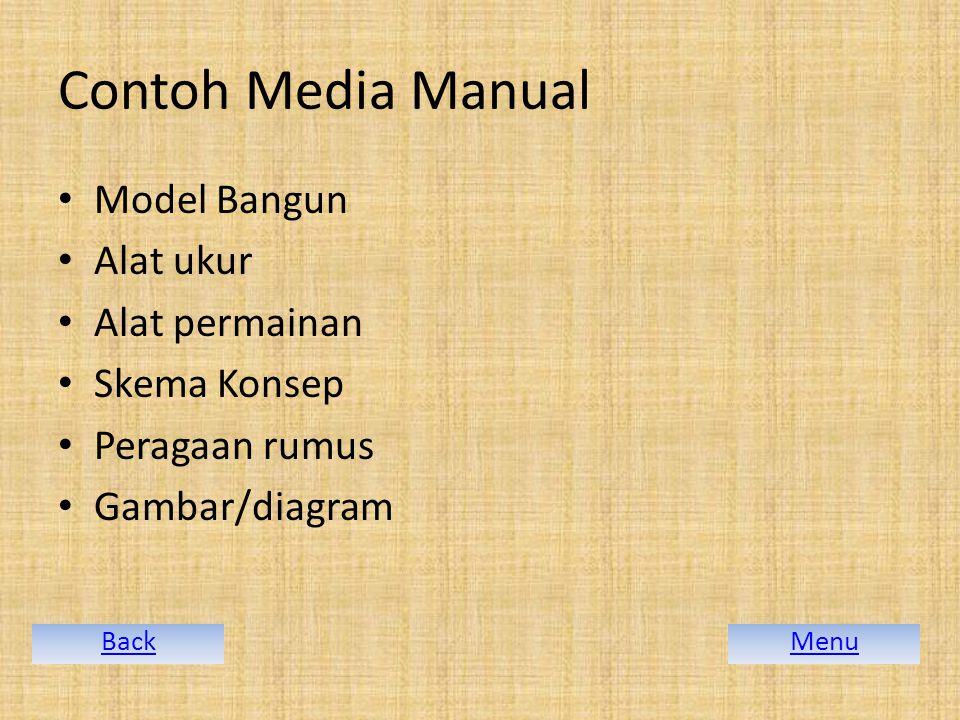 Contoh Media Manual Model Bangun Alat ukur Alat permainan Skema Konsep