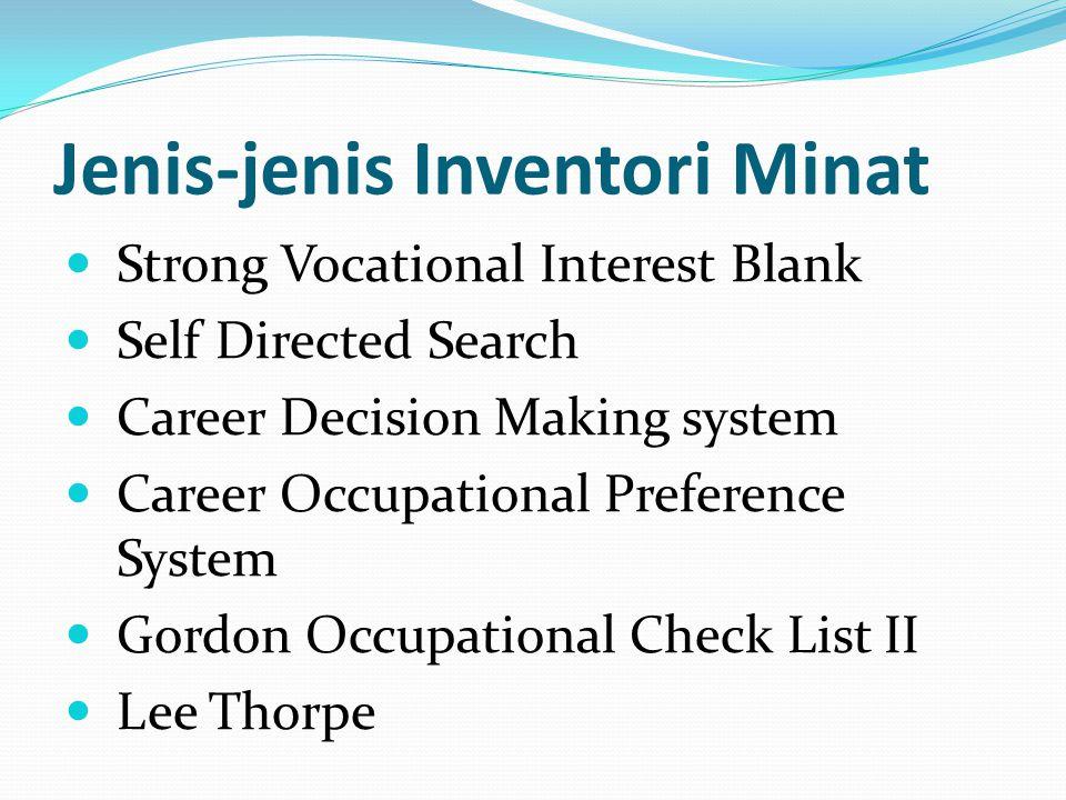 Jenis-jenis Inventori Minat