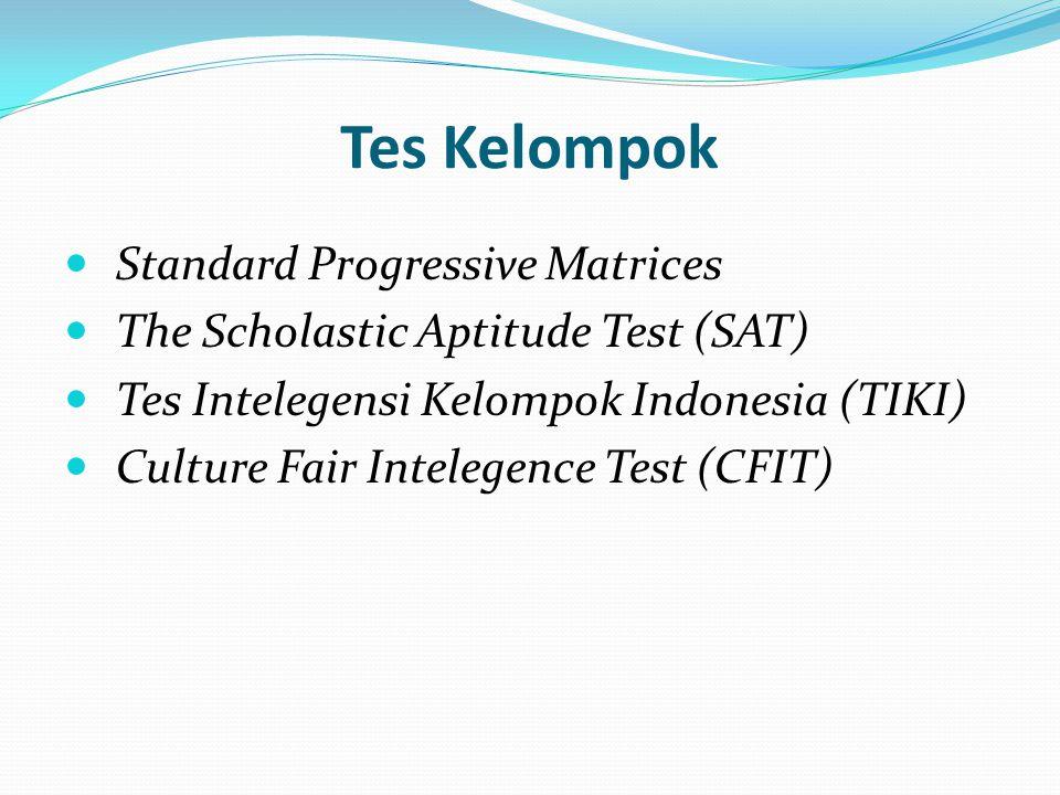 Tes Kelompok Standard Progressive Matrices