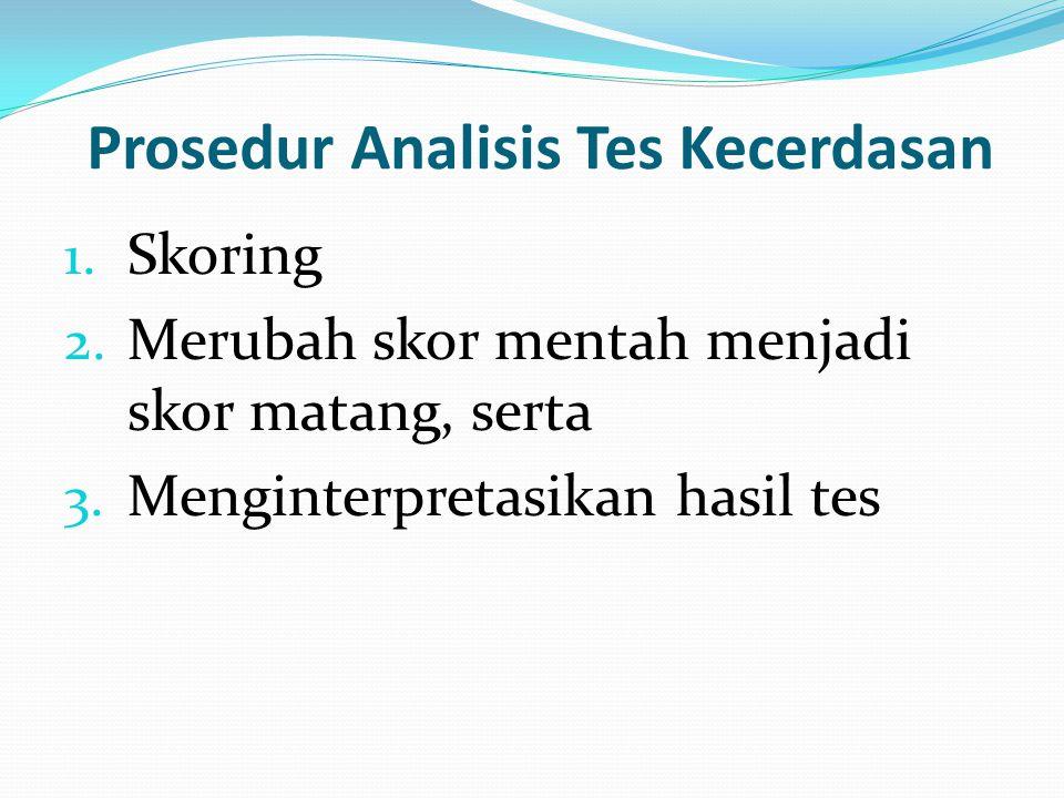 Prosedur Analisis Tes Kecerdasan