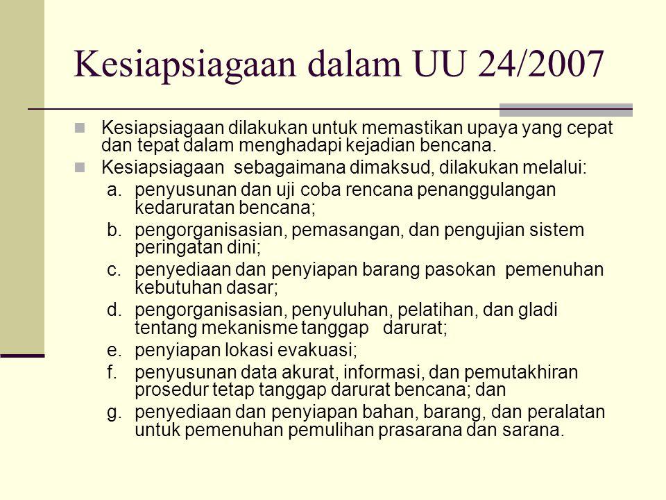 Kesiapsiagaan dalam UU 24/2007