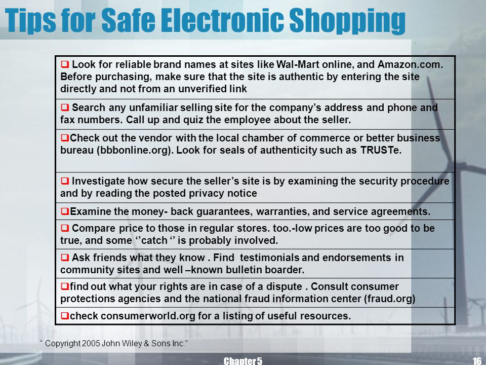 Tips for Safe Electronic Shopping