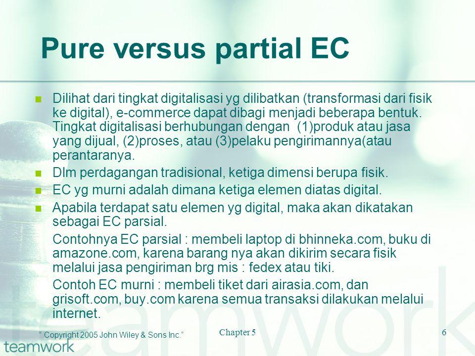 Pure versus partial EC