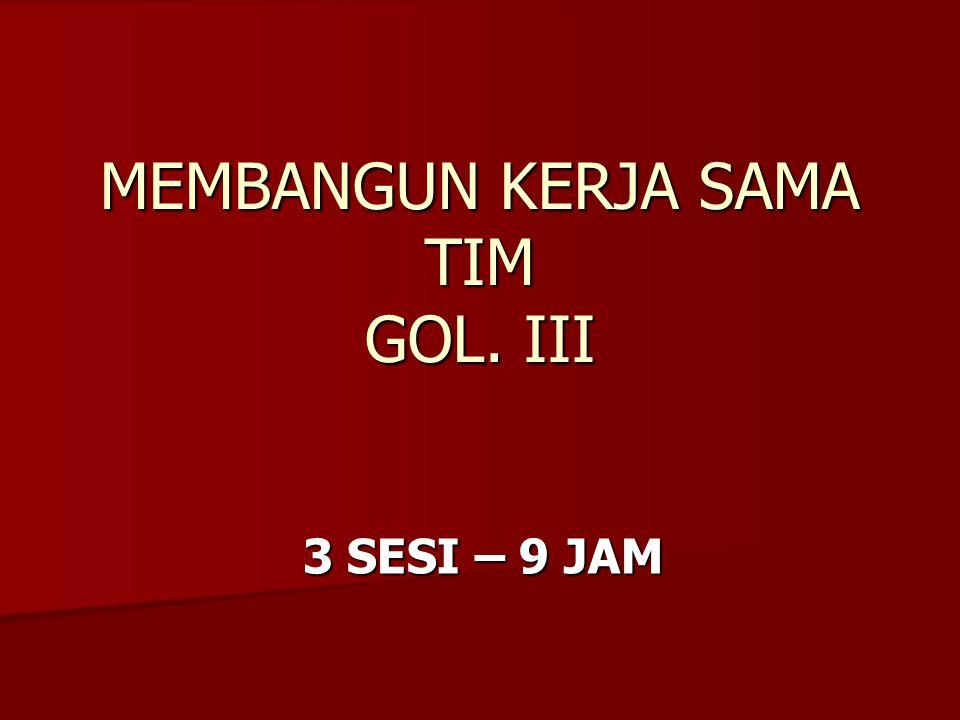 MEMBANGUN KERJA SAMA TIM GOL. III