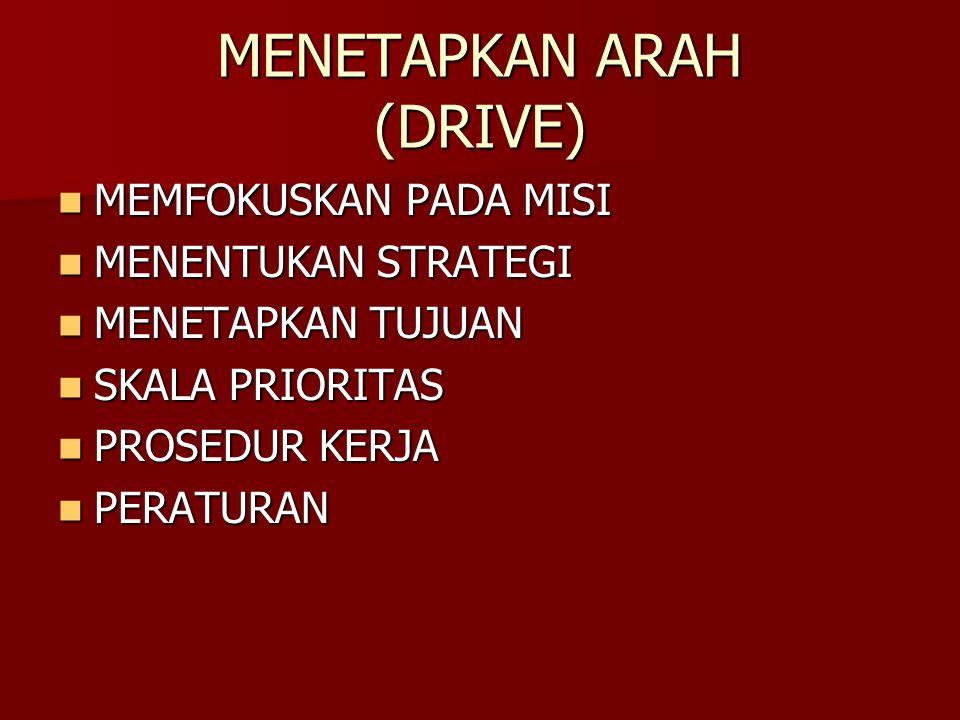 MENETAPKAN ARAH (DRIVE)