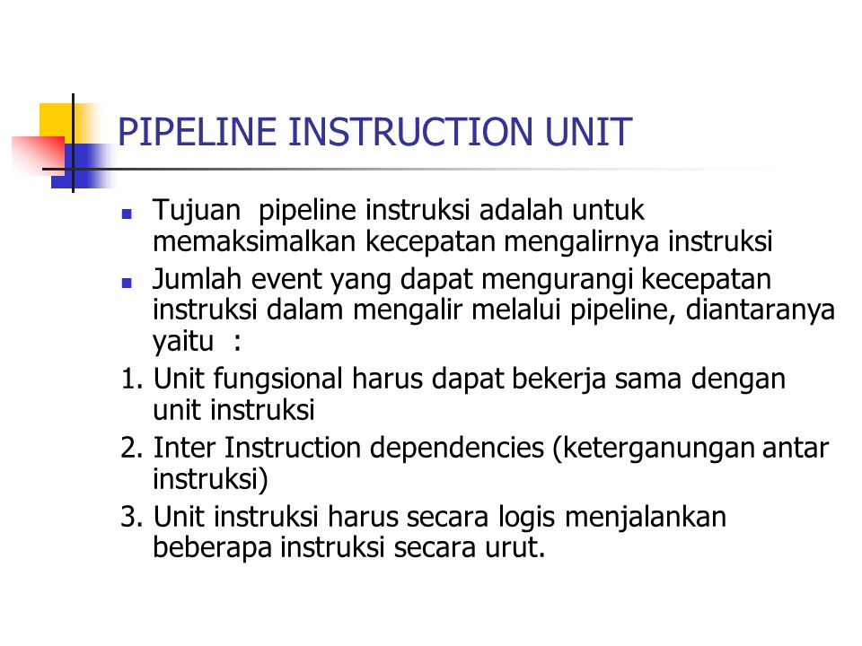 PIPELINE INSTRUCTION UNIT