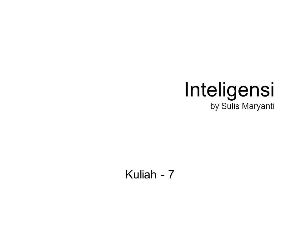 Inteligensi by Sulis Maryanti