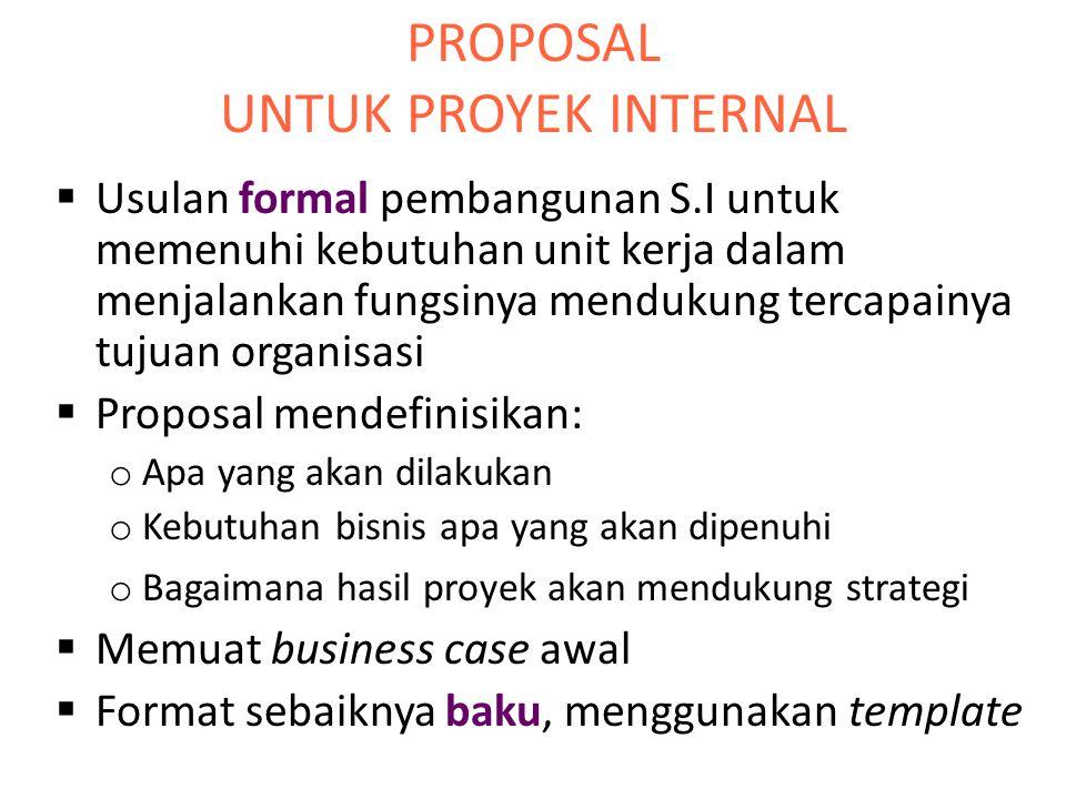 PROPOSAL UNTUK PROYEK INTERNAL