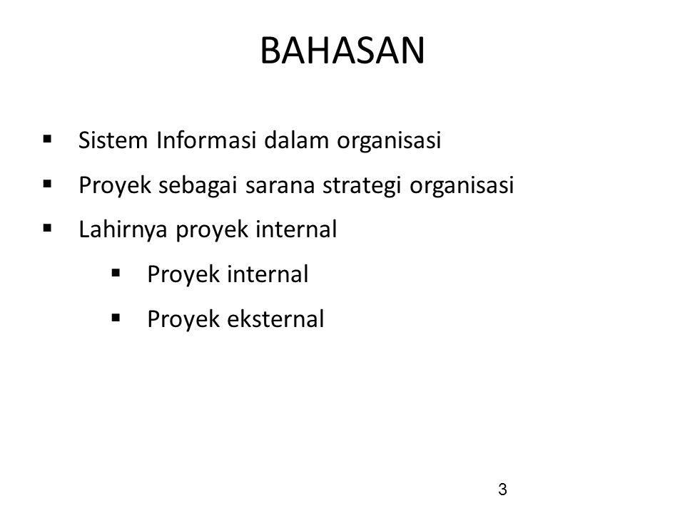 BAHASAN Sistem Informasi dalam organisasi