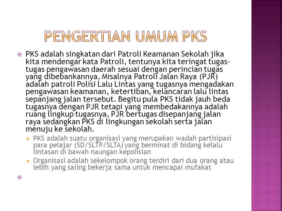 Pengertian umum pks