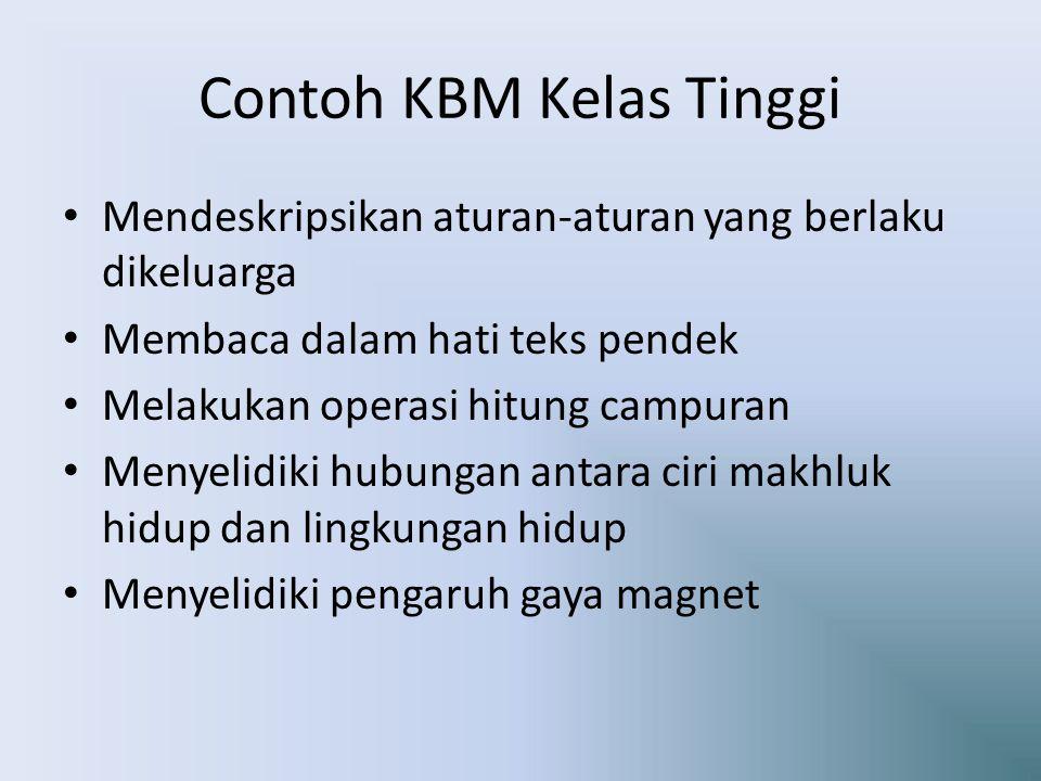 Contoh KBM Kelas Tinggi